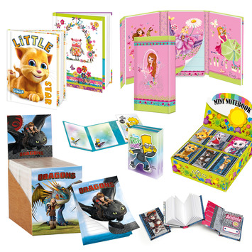 memory books and children`s notepads